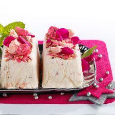 Nougat glacé aux pralines roses