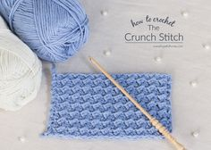 Hopeful Honey | Craft, Crochet, Create: How To: Crochet The Crunch Stitch - Easy Tutorial