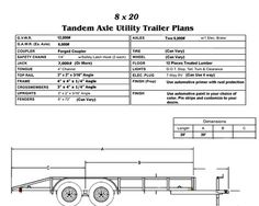 8×20 trailer plans … Trailer Plans, Trailer Build, Car Trailer, Utility Trailer, Teardrop Trailer, Camper Trailers, Welding Trailer, Welding Trucks, Metal Lathe Projects