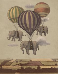 Flight_of_the_Elephants_Print/ by TERRY FAN