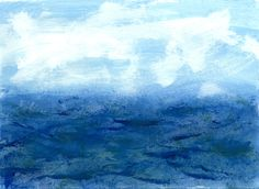 Seascape, acrylic on paper 2013 SOLD
