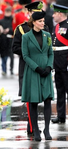 Kate Middleton's Saint Paddy's Day Maternity Look! Love it! The dress is just beautiful.