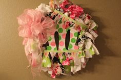 Large Wreath for Baby shower, nursery & hospital. $55.00, via Etsy.