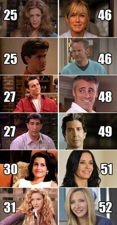 "Here's how old all of the cast members were when the series premiered versus now. | 21 ""Friends"" Facts That Will Legitimately Make You Feel Old"