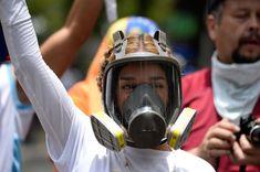 Lilian Tintori, wife of jailed Venezuelan opposition leader Leopoldo. Gas Mask Girl, Respirator Mask, Masquerade, Diving, Outfit Of The Day, Gas Masks, Girls, Beachwear, Swimwear