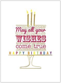 Cake Wishes Birthday Card A6017U-X