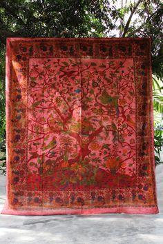 Jungle Scenery Magenta Tapestry