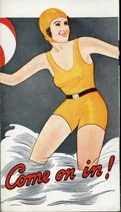 1920s? Women Support Garments For Swimming