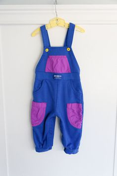 12 months: Color block Baby Romper, Vintage Fleece Overalls by OshKosh B'Gosh