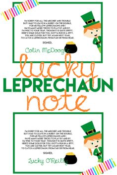 Catch a Leprechaun this St. Patrick's Day with a Leprechaun Trap PLUS a FREE Printable Note for when you aren't so lucky enough to catch him!