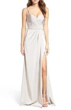 La Femme Ruched Bodice Gown