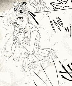 "Minako Aino (Sailor Venus) disguised as a popstar from ""Codename: Sailor V"" series by manga artist & ""Sailor Moon"" creator Naoko Takeuchi."