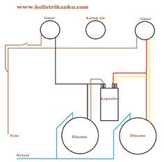 Cara membuat rangkaian mesin cuci dua tabung sendiri dengan mudah rangkiaan dua motor dua timer pada mesin cuci pengering pencuci diagram garis