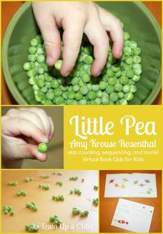 Little Pea - Amy Krouse Rosenthal {October Virtual Book Club Blog Hop} Skip counting, sequencing and more learning fun based on the book.