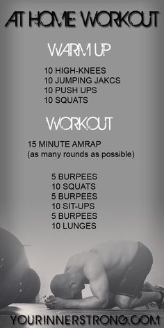 15 Minute at Home or Hotel Workout Make sure to check out our fitness tips, nutrition info and more at www.getyourfittog... #exercise #fitness #workout