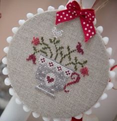 teacup (picture only) cross sttch Cross Stitch Kitchen, Cross Stitch Finishing, Cross Stitch Heart, Cross Stitch Cards, Modern Cross Stitch, Cross Stitch Designs, Cross Stitching, Cross Stitch Embroidery, Embroidery Patterns
