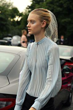 Nastya Kusakina after Giambattista Valli, Paris, July 2013 in a grab 'em stunning shot.