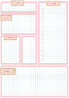 Planificador diario. - Imprimibles y PNG gratis para scrapbooking y otras manualidades.