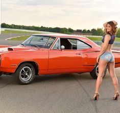Message, muscle cars n hot ladies can