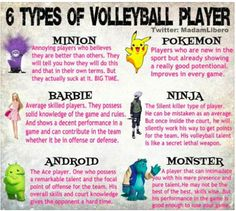 What type of Volleyball player are you? By: twitter.com/madamlibero