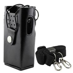 abcGoodefg® Motorola Hard Leather Carrying Case Holder Holster for Motorola 2-Way Radio GP3688 GP3188 EP450 CP150 CP200 CP040 CP140 CP160 ** More info could be found at the image url.