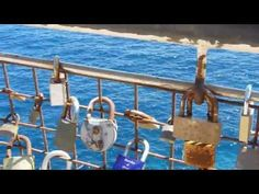 Love Locks in Costa dels Pins Cala Bona Mallorca June 2013 Close Up in HD