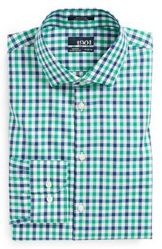 1901 Extra Trim Fit Non-Iron Check Dress Shirt available at #Nordstrom