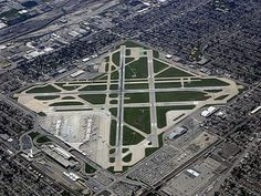 Chicago Midway Airport (right in the middle of a southside residential neighborhood)