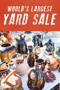 The World's Largest Yard Sale is this weekend! 690 miles of great stuff from hand-made jewelry, collectibles, second-hand furniture, weird nick nacks, candles, crafts, plus plenty of diet-destroying food for you to stuff your face with while you browse!