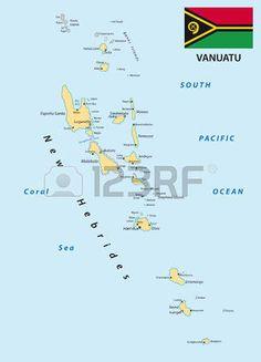 Mapa de la bandera de Vanuatu.