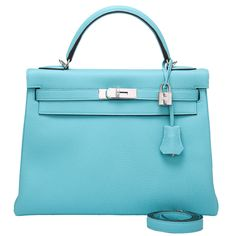 60f1268d88 Hermes Blue Atoll Togo Kelly 32cm NEW
