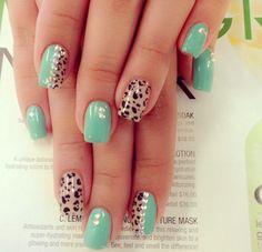 Gallery For > Cute Nail Designs For Acrylic Nails Cheetah