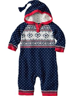 OMG! Would someone have a baby so I can buy this. Sleigh Bells Sweater Romper from #HannaAndersson.