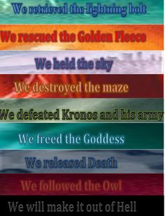 Percy Jackson and The Heroes of Olympus!