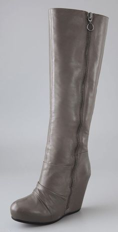 Ash Ursula runched wedge boots