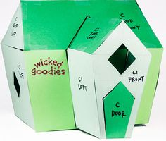 Wicked Goodies | DIY Gingerbread House Paper Templates | http://www.wickedgoodies.net