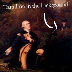Hamilton just casually spying on Washington *don't call me son*