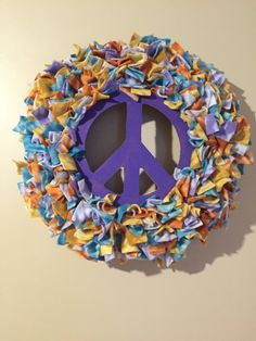 Peace Wreath love wreath Tie Dye door by MOSTaDOORableWREATHS