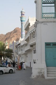 Muttrah Corniche view by old merchant houses  - Explore the World with Travel Nerd Nici, one Country at a Time. http://travelnerdnici.com