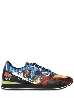 Kenzo Crazy-One Logos Running Sneakers on shopstyle.com