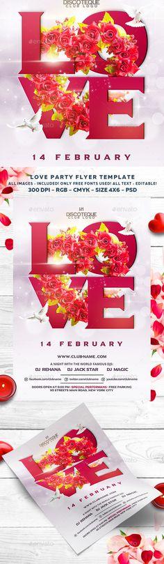 Valentine Flyer Template PSD #design Download: http://graphicriver.net/item/valentine-flyer/14455687?ref=ksioks