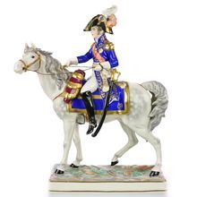 Frankenthal Wessel Porcelain Military Figure Napoleon Officer on Horseback - Hand Painted Military Figures, Toy Soldiers, Military History, Equestrian, Princess Zelda, Hand Painted, Horses, Antiques, Fictional Characters