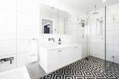 Small bathroom with custom cabinetry