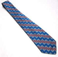 Vintage  Necktie Blue Red Tie by sweetie2sweetie on Etsy, $6.99