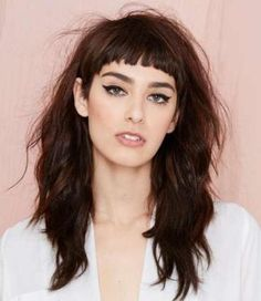Image result for long hair with short bangs and layers
