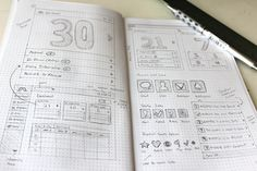 UI wireframe sketch | Chris No