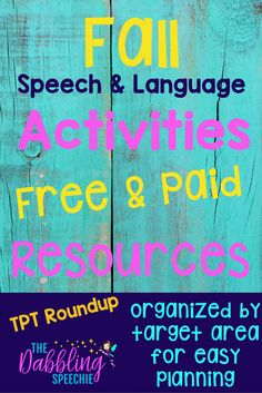 Fall speech and language resources