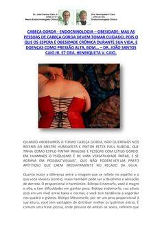 Cabeça Gorda -  Endocrinologia - Obesidade by VAN DER HAAGEN via slideshare