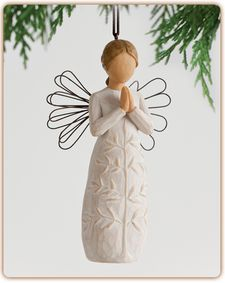 a tree, a prayer Ornament - May you find strength, beauty and peace each day #willowtree #Christmas #holiday #gift #angel