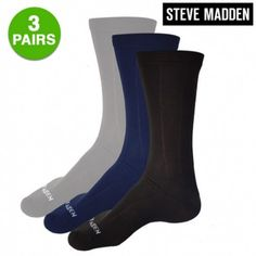 Steve Madden Men Waves Fashion Crew Socks $5.99 $5.99   3 Pairs: Steve Madden Men's Waves Fashion Crew Socks $5.99 Free Shipping